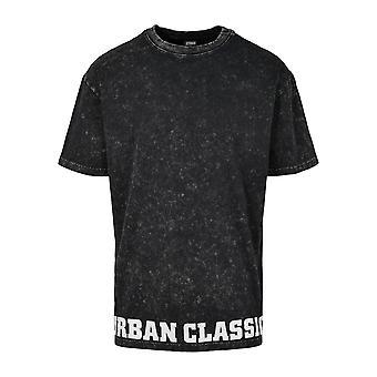Urban Classics Herren T-Shirt Acid Washed Logo