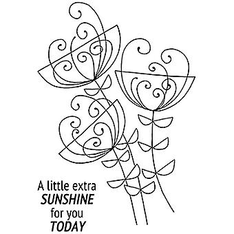 "Woodware Clear Stamps 4""x6"" - Bold Blooms Ginny with Sentiment"