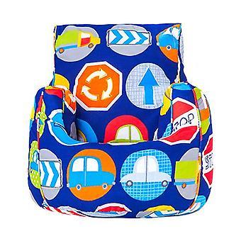 Road Skilte Print Children's Ready Fyldt Fun Bean Bag Chair Seat Kids Toddler Møbler