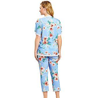 R-sch 1203104-16070 Mujeres's Nuevo Romance Azul Hibiskus Floral Pyjama Set