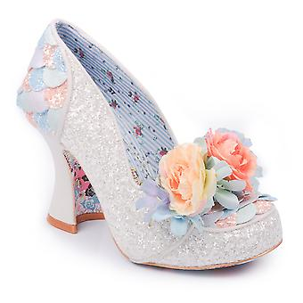 Womens Irregular Choice Desire Glittering Pastel Mid Heels Court Shoes