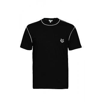 Kenzo Basic Tiger Logo Musta T-paita