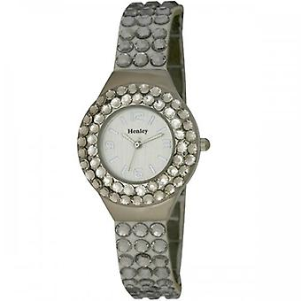 Henley Glamour Crystal Charcoal Facet Glass Watch