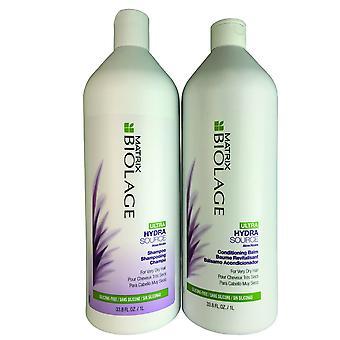 Matrix biolage ultra hydrasource hår schampo och konditionering balsam duo 33,8 oz.