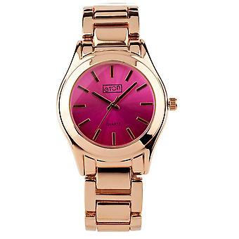 Eton Fashion Watch, Rose Gold Finish, Shaded Pink Coloured Dial 3216J-PK