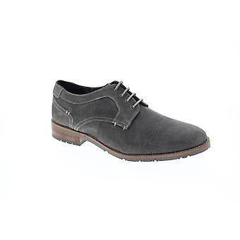 Ben Sherman Rugged Leather  Mens Gray Suede Casual Lace Up Oxfords Shoes