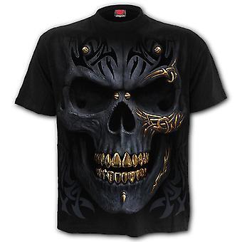 Spiral Musta Gold T-paita