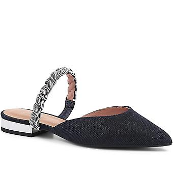 Staccato Embellished Flat Mules