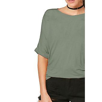 Ladies Oversized Turn Up Sleeve T-Shirt