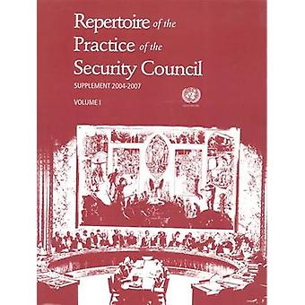 Repertoire of the Practice of the Security Council - Supplement 2004-2