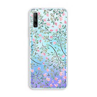 Huawei P Smart Pro gjennomsiktig sak (myk) - Fine blomster