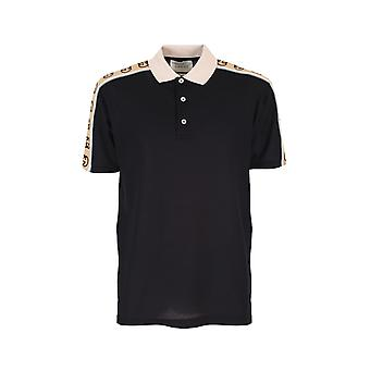 Gucci 598949xjb0q1082 Men's Black Cotton Polo Shirt