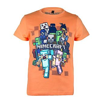 Minecraft Character Group Boys T-Shirt | Official Merchandise