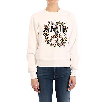 Amiri Y0w02356teivo Women's White Cotton Sweatshirt