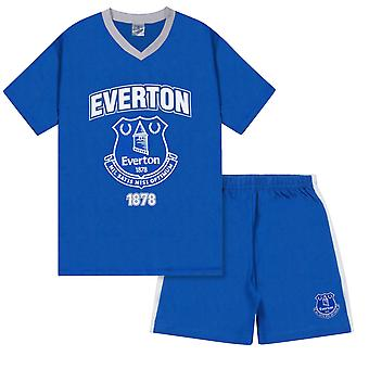Everton FC Official Football Gift Mens Short Pyjamas Loungewear