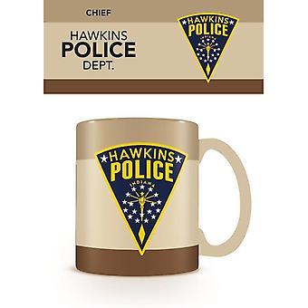 Stranger Things Hawkins Policyjny Kubek