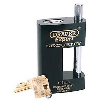 Draper 64205 Expert 103mm Heavy Duty Close Shackle Padlock And 2 Keys
