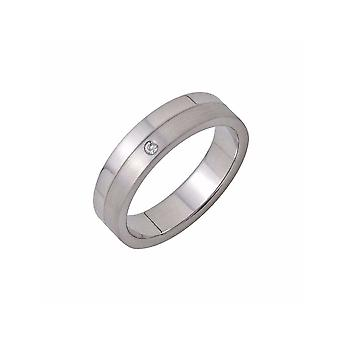 ZOPPINI Stainless Steel Diamond Ring Size