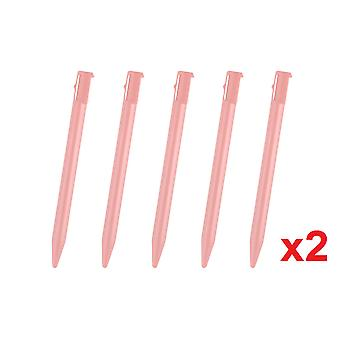 10 Pink Touch Stylel Pen pour Nintendo 3DS Rigide Plastic Gaming