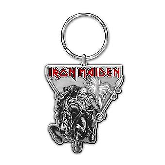 Iron Maiden Keyring Euro Tour Eddie paard Band Logo officiële nieuwe metalen sleutelhanger