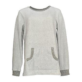 Cuddl Duds Women's Sweater Fleecewear Long Sleeve Grey A371296