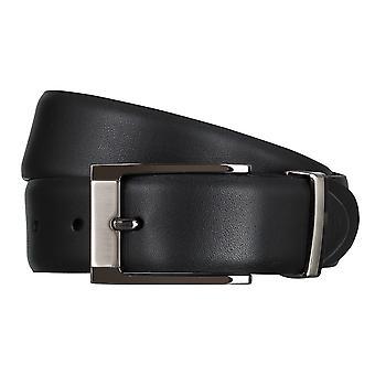 SAKLANI & FRIESE belts men's belts leather belt black 5015