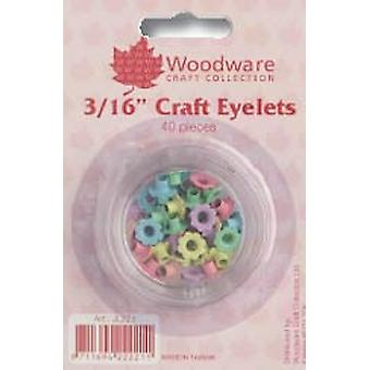 316 Inch Flower Eyelets - Pastel 40 pack