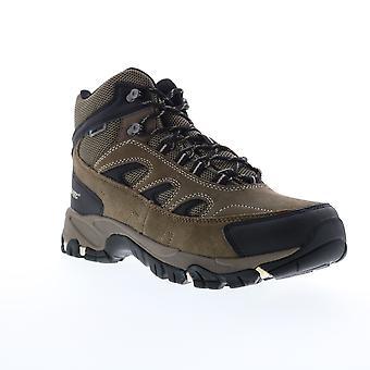 Hi-Tec Ramsey Waterproof  Mens Brown Suede Hiking Boots Shoes