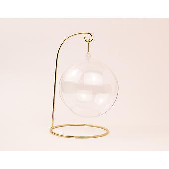 17cm Gold Metal Christmas Bauble Table Top Hanger or Display Stand