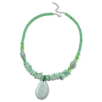 Bead Strand Green Aventurine Necklace Green Glass, Resin, 450.002 Ct TJC