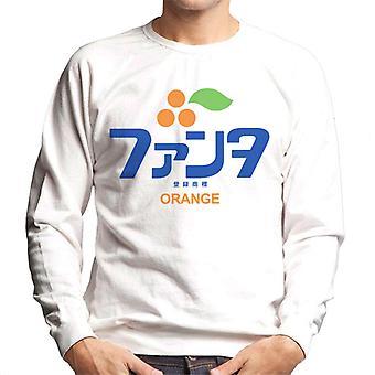 Camisola dos homens do logotipo japonês de Fanta Orange 1980s