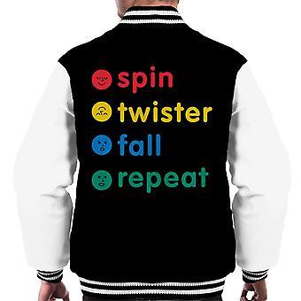 Twister Spin Twister Fall Repeat Men's Varsity Jacket