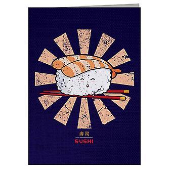 Happy Sushi Retro japansk lykønskningskort