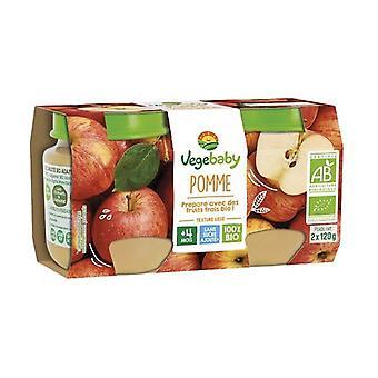 Baby Vegébaby apple jars 4 months 2 units