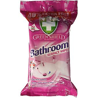 Green Shield Bathroom Surface Wipes 12 x 70 pack