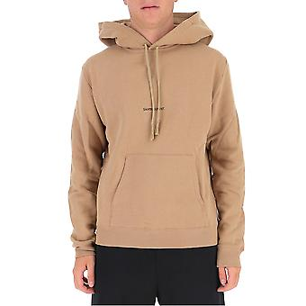 Saint Laurent 632425ybqz22173 Men's Beige Cotton Sweatshirt