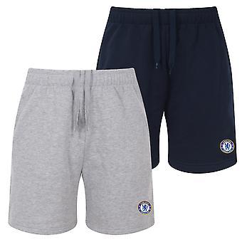 Chelsea FC Herren Shorts Jogger Fleece OFFIZIELLE Fußball Geschenk