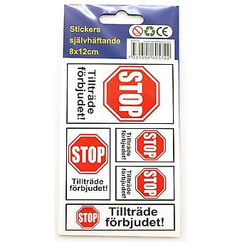 Stickers Access Prohibited STOP 10-pack sticker sticker