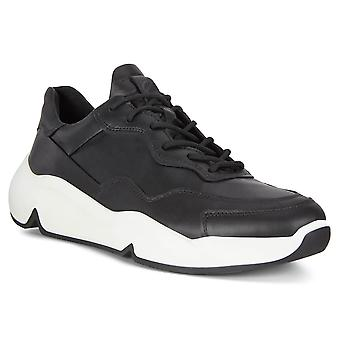 Ecco Mens 2020 Chunky Sneaker Code FluidForm Breathable Leather Trainers