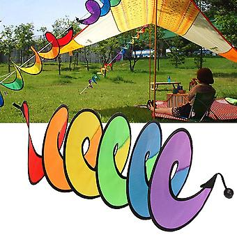 Colorful Camping Tent Foldable Rainbow Spiral Windmill Wind Spinner Home Garden