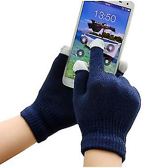 Unisex One Size Winter Touchscreen Handyhandschuhe (Navy Blue) Für Apple Samsung Nokia Huawei Google LG Sony Motorola