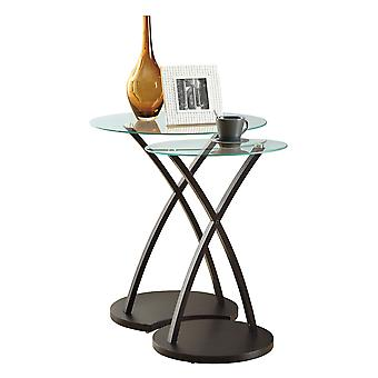 CAPPUCCINO BENTWOOD 2PCS NESTING TABLE SET