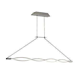 Ceiling Pendant 36W LED 3000K, 2520lm, Dimmable Silver, Frosted Acrylic, Polished Chrome