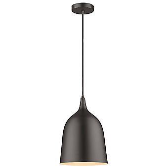 1 Light Dome Tak Hängande Svart, Matt Svart, E27