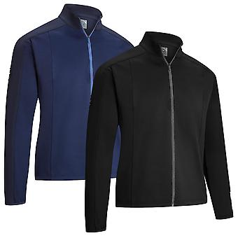 Callaway Golf Mens Thermore Mixed Media Stretch Swing Tech Sweater