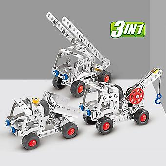 3in1 City-engineering Car-truck Stainless-steel Alloy Metal, Disassembly