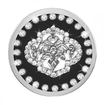 Nikki Lissoni Sparkling Black Fountain Medium Silver Coin C1378SM