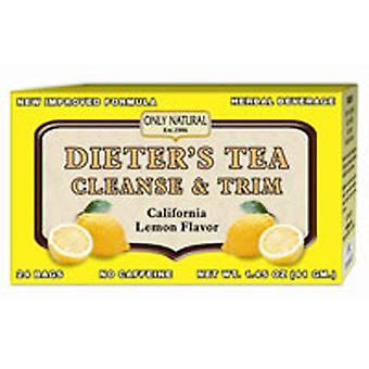 Only Natural Dieter's Cleansing Tea, Lemon 24 Bags