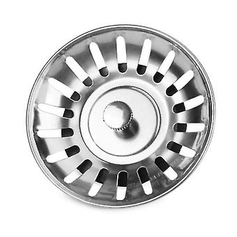 Stainless Steel Bathtub Hair Catcher Stopper Shower Drain Hole Filter Kitchen