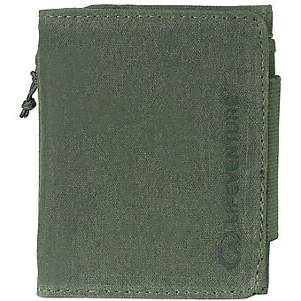 lifeventure rfid protected wallet - olive waxed canvas
